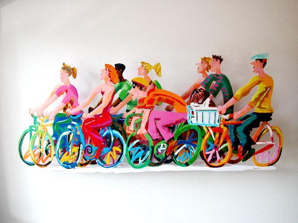 Kunstwerk Fahrradfahrer